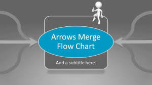 merging arrows flow chart a powerpoint template from