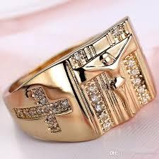 white zircon rings images 2018 fashion simple men and women white zircon ring classic cross jpg