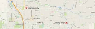 Arizona Maps by Contact Southern Arizona Veterinary Specialty U0026 Emergency Center