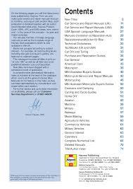 car service and repair manuals documents