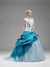 robe de mariã e bleue robe de mariée blanche et bleu turquoise la boutique de maud