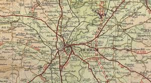 Durham England Map by Durham Map