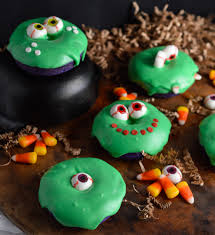 Monster Halloween by Slime Monster Halloween Donuts Wonkywonderful