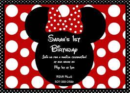 minnie mouse invitations ct minnie mouse polka dot bow birthday invitation