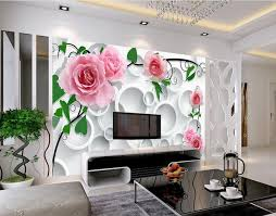 custom modern wallpaper design circle background rose papel de