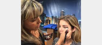 nbc makeup artist works with broadcast students um school of