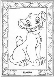 awesome printable cartoon lion king coloring pages kids