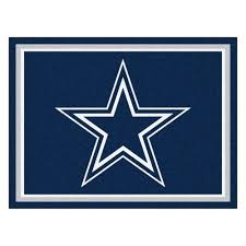 Nfl Area Rugs Dallas Cowboys 1 4 Plush Area Rug 8 X 10