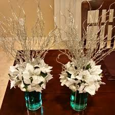 winter centerpieces winter centerpieces poinsettia centerpiecesonabudget