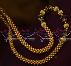 long gold beads necklace images Nl9646 gold colour beaded jali mala red green combination simple JPG