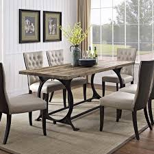 wood and iron dining room table diffuse wood top cast iron dining table emfurn