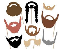 photo booth accessories beard props etsy