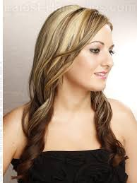 long brown hairstyles with parshall highlight partial highlights on light brown hair dimensional color