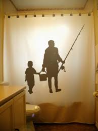Fishing Bathroom Decor by Family Fishing Shower Curtain Kids Bathroom Father Son Decor