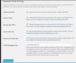 woocommerce print orders automatic printing