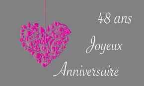 48 ans de mariage carte anniversaire amour 48 ans gris