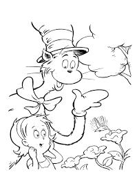 cat hat coloring pages