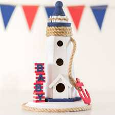 Nautical Theme Babyshower - nautical themed baby shower centerpiece by partyography on love