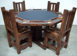 Octagon Poker Table With Chairs Home Chair Decoration - Octagon kitchen table