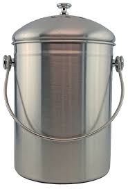 amazon com stainless steel 1 gallon compost pail with filter