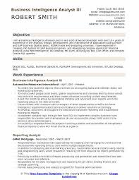 Business Objects Resume Sample by Business Intelligence Analyst Resume Samples Qwikresume