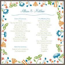 unique wedding program templates printable floral wedding program templates