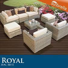 Sunbrella Patio Furniture Sets - furniture black iron sofa with white cushion seat by sunbrella