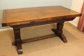 Antique Oak Draw Leaf Farmhouse Refectory Drawleaf Kitchen Dining - Antique oak kitchen table