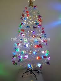 5ft 150cm white charming fiber optic christmas tree with angel top