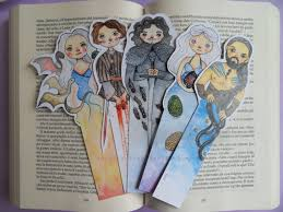 unique bookmarks of thrones bookmark unique bookmarks watercolor print