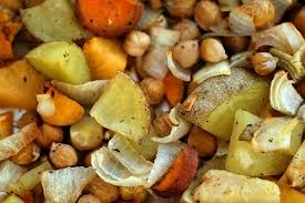 roasted root vegetable stew straight from the farm
