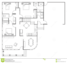 Plans For A House Floor Plan House Royalty Free Stock Photos Image 34005958