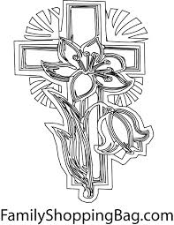 cross coloring pages getcoloringpages