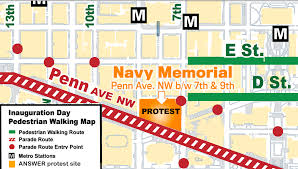 Maryland Metro Map by Logistical Information For Jan 20 Protest Maps And Prohibited
