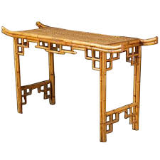 Rattan Console Table Vintage Faux Bamboo Rattan Console Faux Bamboo Rattan And Consoles
