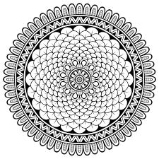 mandala complex little petals difficult mandalas for adults