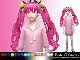 sims 4 kids hair studio k creation animate hair 8 norie for kids sims 4 downloads