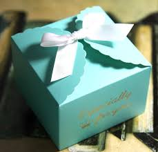 cookie box favors blue gold st cookie candy box mini dessert boxes wedding party