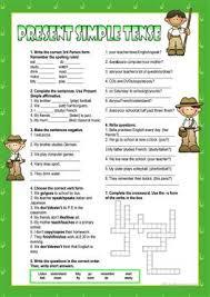 2898 free esl present simple tense worksheets