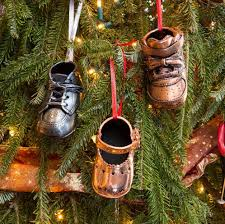 baby shoes bronzed as tree ornaments american bronzing