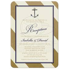 reception only invitations post wedding reception only invitations nautical gold