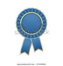 blue and gold ribbon blue gold rosette ribbon stock vector 572456584
