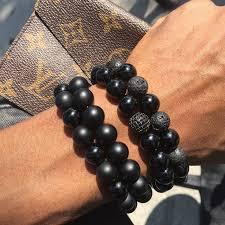 mens black beaded bracelet images Boybeads custom beaded bracelets for men new york ny JPG
