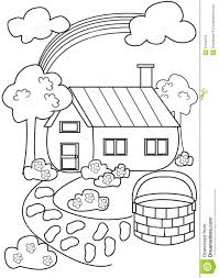 house coloring page stock illustration image 50166234