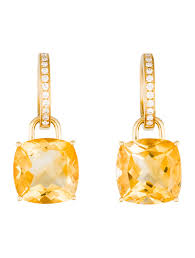 mcdonough citrine drop earrings mcdonough diamond citrine classic convertible drop earrings