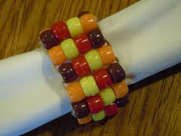 pony bead napkin ring for thanksgiving