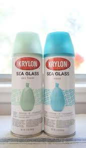 Krylon Transparent Spray Paint - diy decorative sea glass balls momtique kendra williams diy