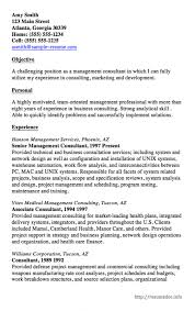 Management Consulting Resume Resume Sample Archives Resumedoc