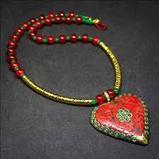 tibetan necklace images Tibetan tashan necklace earrings set red jpg