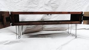 Hairpin Leg Console Table 3 Ft Industrial Credenza Console Tv Stand With Doors And Hairpin